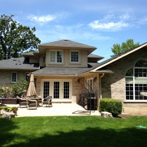 Exterior of home in Toronto after completion of interior and exterior window cleaning