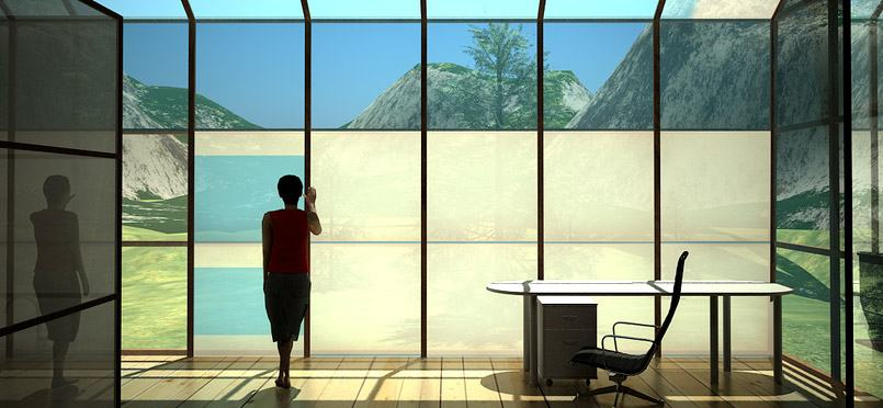 high-tech windows in a toronto office space