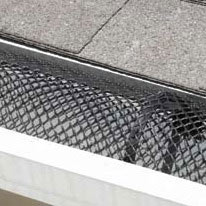mesh gutter guard after installation