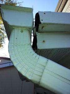 broken separate eavestrough corner