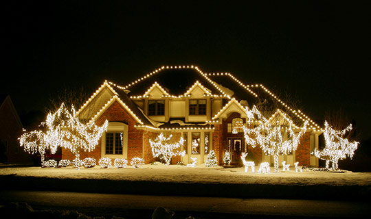 Oakville home after having holiday lighting installation service from NICK'S