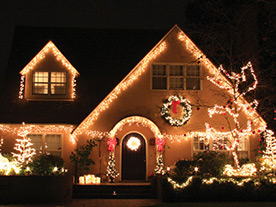 home in brampton after receiving holiday light installation service