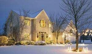 an etobicoke home after christmas light installation service