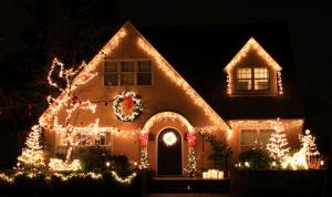 north york, on home after receiving a full christmas light installation package
