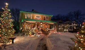 Scarborough home after having holiday light installation service