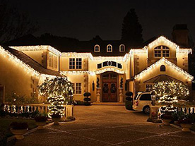 thornhill house after receiving holiday light installation service