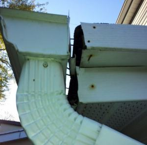 broken eavestrough